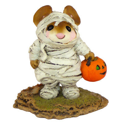 THE MUMMY by Wee Forest Folk, WFF# M-194, White Mummy Mouse