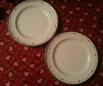 2 x Booths Sheraton Border Dinner plates Alfred B Pearce c1906. More available