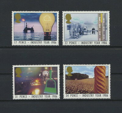 Great Britain 1129-32 MNH, Industry Year, 1986