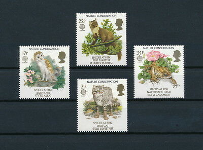 Great Britain 1141-4 MNH, Endangered Species, 1986