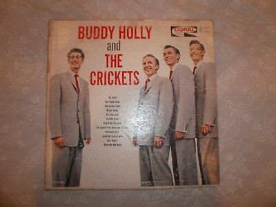 BUDDY HOLLY AND THE CRICKETS LP RECORD Maroon Label #CRL 757405 VERY GOOD VINYL