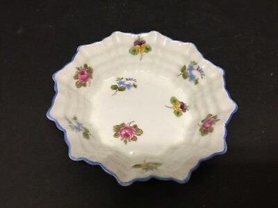 """Perfect Shelley Rose Pansy Forget-Me-Not Sweet Meat Dish   4 5/8"""""""