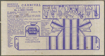 Nabisco Toytown Carnival card #4 Side Shows 1946