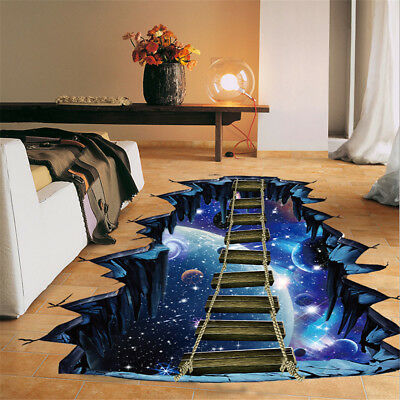 3D Star Series Floor Wall Sticker Removable Mural Decals Vinyl Art Room Decor