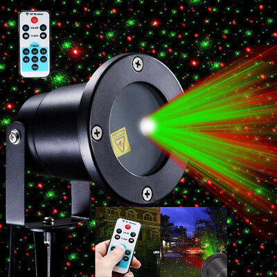 AU Moving Laser Projector R&G Light Outdoor LED Waterproof Garden Party Lights