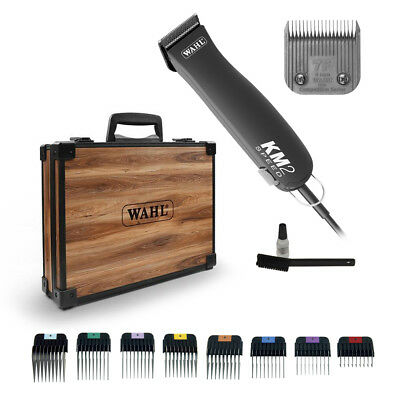 WAHL KM2 33cm TOOL KIT/CASE M +/- 7F +/- 1-8 Metal Combs/Guides KM-2 Pet Clipper