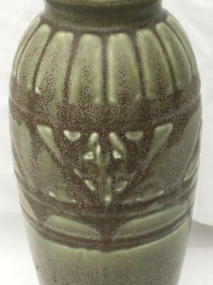 "c1925 Antique ROOKWOOD Matte Green #2878 Arts & Crafts 9"" VASE Vintage"