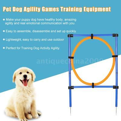 Dog Agility Set Jump Hoop Training Equipment Obedience Ring Show Obstacle S4S0