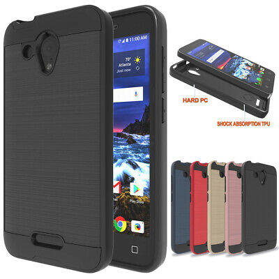 Slim Hybrid Shockproof Hard Armor Case Cover For Alcatel IDEALXCITE/CameoX/Verso