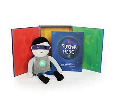 SleeperHero The Superhero Toy Nightlight Clock Plush Doll with Storybook + Bu...
