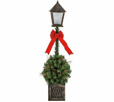Home Traditional Foliage Lamppost - Christmas Decoration