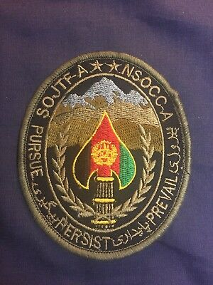 NSOCC-A patch SOJTF-A Afghanistan Special Operations Forces