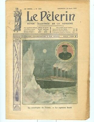 1912 French Publication with Color Sinking of Titanic cover
