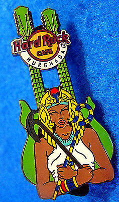 RARE HURGHADA ANCIENT EGYPTIAN *QUEEN CLEOPATRA* GUITAR Hard Rock Cafe PIN LE100