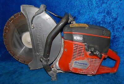 Husqvarna K760 Gas Powered Concrete Cut Off Wet/Dry Saw Cylinder displacement 73