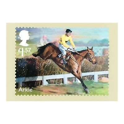 Arkle Irish Thoroughbred Racehorse Winner Artwork - Mike Heslop Phq 427 Postcard