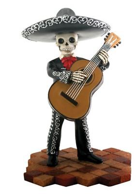 Skeleton Black Mariachi Band Bassist Player Day of the Dead Figurine