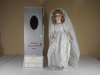 "Seymour Mann 18"" Porcelain Caroline Doll Limited Edition Lace Bridal with Box"