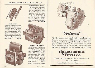Vintage Abercrombie & Fitch Advertising~Outfitters Catalog Brochure Pamphlet #14