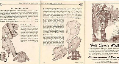 Vintage Abercrombie & Fitch Advertising~Outfitters Catalog Brochure Pamphlet #21