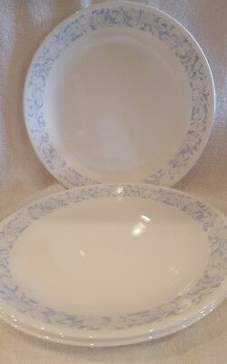"""Set of 4 Corning Corelle Sea and Sand 10 1/4"""" Dinner Plates"""