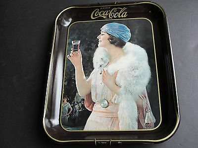Drink Coca-Cola, Flapper Girl- Serving Tray 1973 Reproduction from 1925 Ad.RARE!