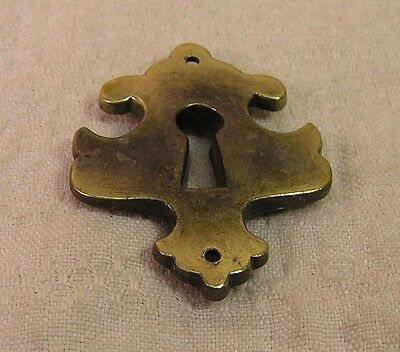 5 Vintage style Brass Escutcheons Key Hole Covers Cabinet Furniture Hardware