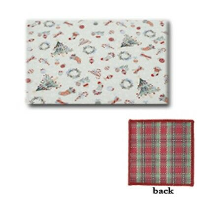 Longaberger Placemats set of 4 Holiday Plaid All The Trimmings Reversible New