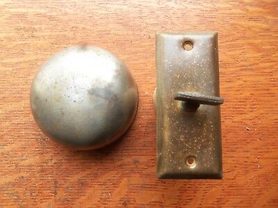 Antique Victorian Mechanical Doorbell & Elegant Brass Twist  Pat 1899