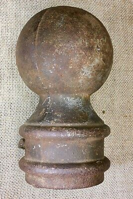 "hitching post top old lamp 3 7/8"" cannon ball flag pole fits 2 3/8"" pipe vintage"