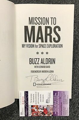 Buzz Aldrin Signed Mission to Mars Hardcover Book Autograph JSA COA Astronaut