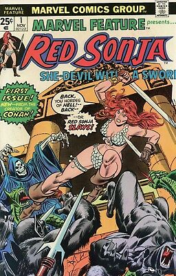 Marvel Feature Presents #1 Red Sonja VF- 7.5 1975 Marvel See My Store