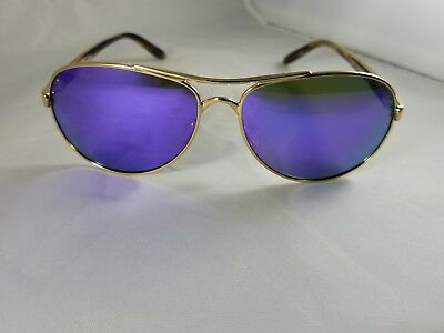 Brand New  Oakley Sunglasses Tie Breaker 4108-14 Gold Violet Polarized Avaitors