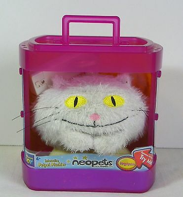 Neopets Angel-Puss White Cat Interactive Pet Pet Plushies In Box 4""