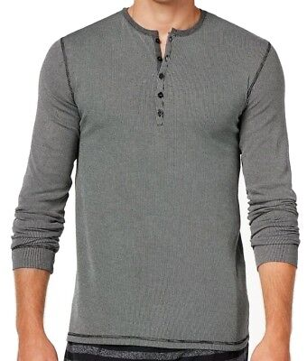 Kenneth Cole Reaction NEW Black Mens Size Small S Henley Sleepwear $39 #109