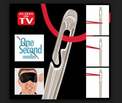 US! 12 PCS One Second-Needles As Seen On TV Self Threading Needles Hand Sewing