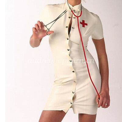 Latex Rubber Gummi Sexy Little Nurse Skirt Fancy Ball Masquerade Size XXS-XXL
