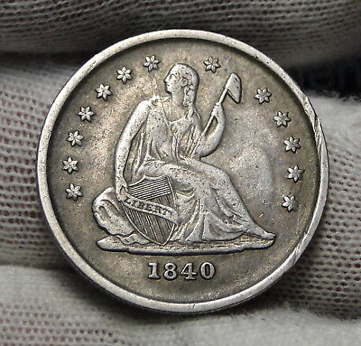 1840-O Seated Liberty Quarter 25C Key Date Only 425,200 Minted..Nice Coin (5307)