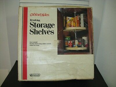 Vintage CabinetAides Revolving Storage Plastic Shelves New in box COMPLETE