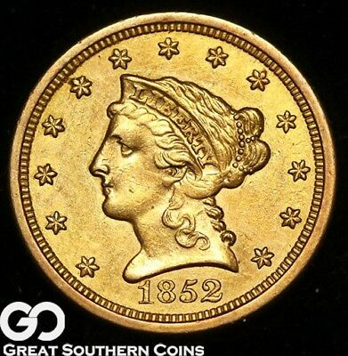 1852-O Quarter Eagle, $2.5 Gold Liberty, Choice AU++ Better Date New Orleans!