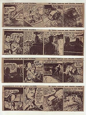 Sergeant Pat of Radio Patrol by C. Schmidt - 25 daily comic strips from May 1947