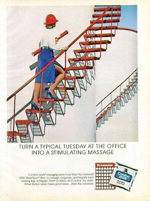 Turn a typical Tuesday into massage No nonsense Comfort Stride pantyhose ad 1984