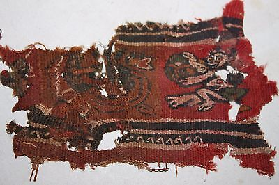ANCIENT EGYPTIAN COPTIC TEXTILE SECTION 5/6th CENTURY AD