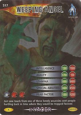"""Doctor Who Battles In Time Invader - Rare """"Weeping Angel"""" Card #517"""