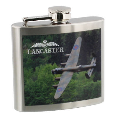 RAF Royal Air force LANCASTER Plane 5oz Stainless Steel Hip Flask RAF265