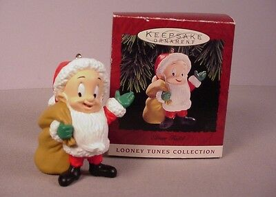 Hallmark Christmas ornament Elmer Fudd MIB 1993 retired Looney Tunes Santa