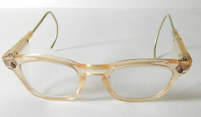 Vintage American Optical Ao Clear Lens Safety Glasses W/ Side Shields