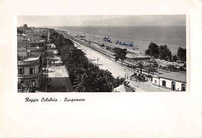Calabria Italy panoramic view along the water front real photo pc Z43789
