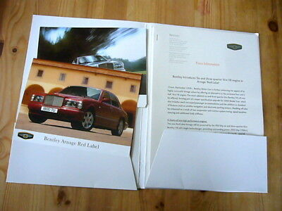 Bentley Arnage Red Label press kit, 1999, excellent condition, rare & original