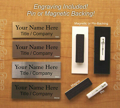 1X3 EMPLOYEE PERSONALIZED Name Tag Badge Custom Engraved